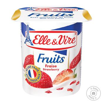 Elle&Vire Strawberry Flavored Milk Dessert 1,5% 125g