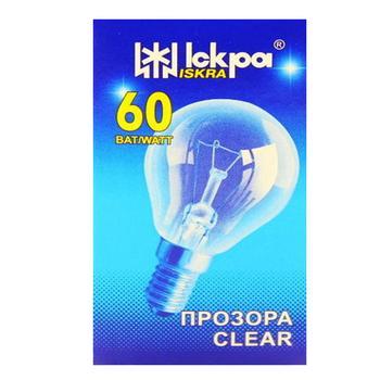 Лампа Іскра Куля електрична прозора PS45-230в 60вт Е14 - купити, ціни на МегаМаркет - фото 1