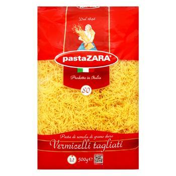 Макароны Pasta Zara Vermicelli Tagliati Вермишель 500г - купить, цены на Фуршет - фото 1