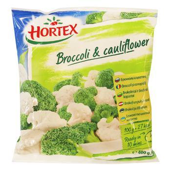 Суміш броколі та цвітної капусти Hortex 400г