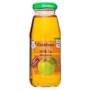 Reconstituted clarified pasteurized sugar-free juice with vitamin C Gerber apple for 4+ months babies 175ml - buy, prices for EKO Market - photo 1