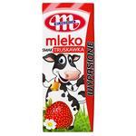 Молоко Mlekovita з полуничним смаком 200мл