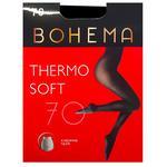 Bohema Thermo Soft 70 Den Black Tights for Women Size 3
