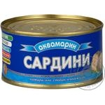 Сардины Аквамарин натуральные с добавлением масла 200г