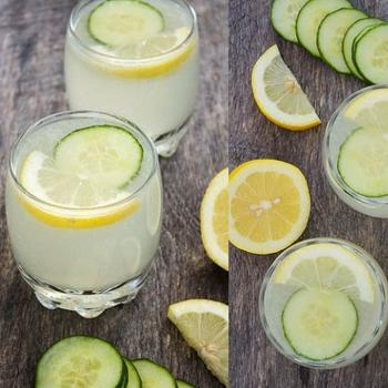 Лимонад с огурцом и базиликом