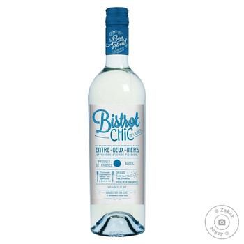 Bistrot Chic Entre-Deux-Mers blanc white dry wine 11.5% 0,75l - buy, prices for Furshet - image 1