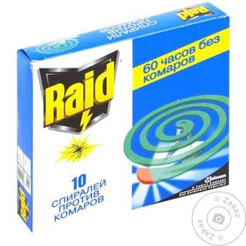 Raid Against Mosquito Spiral 10pcs - buy, prices for Tavria V - image 1