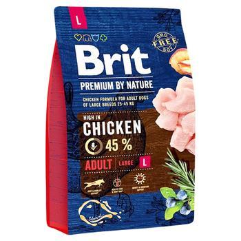 Корм сухий Brit Premium з куркою для собак крупних порід 3кг - купити, ціни на Восторг - фото 1