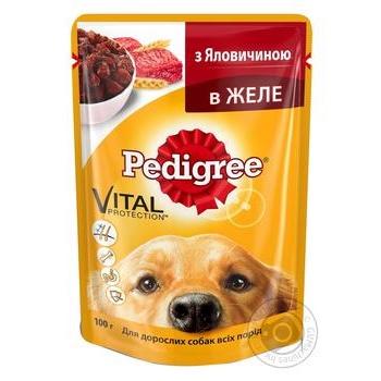 Корм для собак Pedigree с говядиной в желе 100г