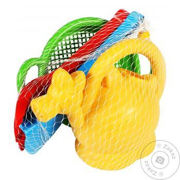Іграшка набір д/піску Фантазія 4 ел. з лійкою 39257