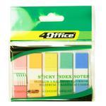 Закладки 4Office цветные с клейкой полосой 12*45,5см