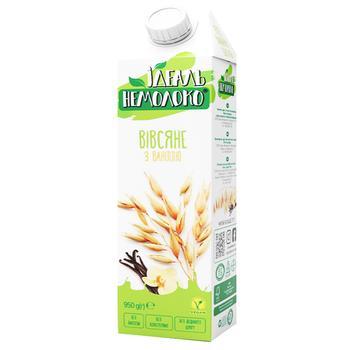 Напиток Идеаль Немолоко овсяный с ванилью ультрапастеризованный 1,5% 950г