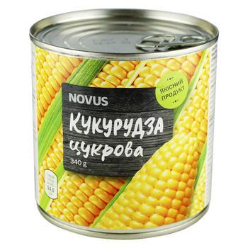 Кукуруза сахарная Novus стерилизованная консервированная ж/б 340г