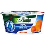 Lactonia Fit+ With Dried Apricot Cottage Cheese Cream 140g - buy, prices for MegaMarket - image 1