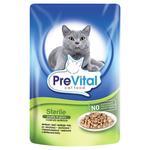Консервы PreVital для стерилизованных кошек с птицей в соусе 100г