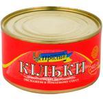 Morskoy Proliv №5 Fried Black Sea Sprat in Tomato Sauce 240g