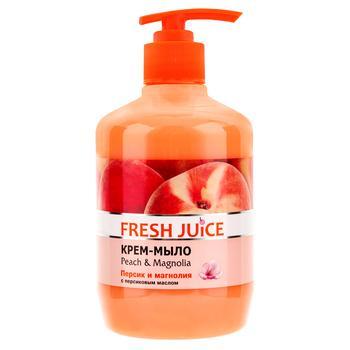 Крем-мыло жидкое Fresh juice Персик и магнолия 460мл - купить, цены на Novus - фото 1