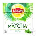 Чай Липтон Магнифисент Матча зелений с мятой 18х1.5г