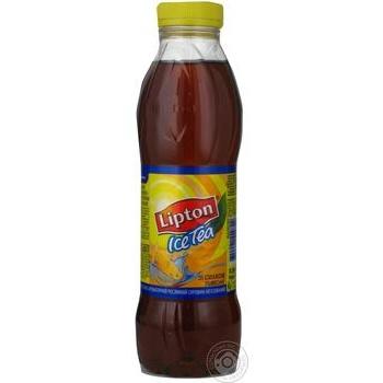 Tea Lipton ice tea lemon cold 500ml plastic bottle