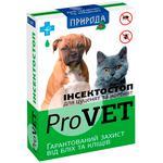 Краплі на холку для котів та собак ProVET Інсектостоп до 3кг 6 піпеток від зовнішніх паразитів