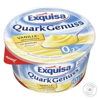 Dessert Exquisa curd with vanilla chilled 0.2% 500g - buy, prices for MegaMarket - image 1