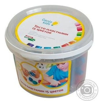 Dough-plasticine Set for molding for kids 15 colors - buy, prices for MegaMarket - image 1