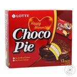 Печенье бисквитное Lotte Choco Pie прослоенное глазированное 12*28г 336г