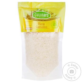 Рис Culinaro Камоліно круглозернистий шліфований 400г - купити, ціни на МегаМаркет - фото 1