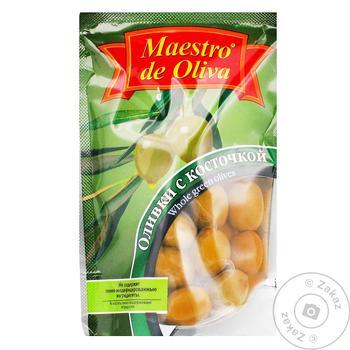 Maestro de Oliva Green Olives with bone 190g