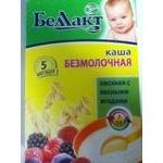 Oatmeal dairy-free porridge Bellakt with berries for 5+ months babies 250g Belarus