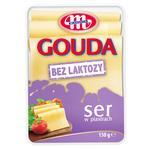 Сыр Mlekovita Гауда без лактозы твердый сычужный нарезанный 45% 150г