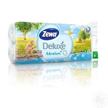 Туалетная бумага Zewa Сезон белая трехслойная 10шт - купить, цены на Novus - фото 1