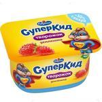 Паста творожная Савушкин СуперКид Земляника для детей 3,5% 110г