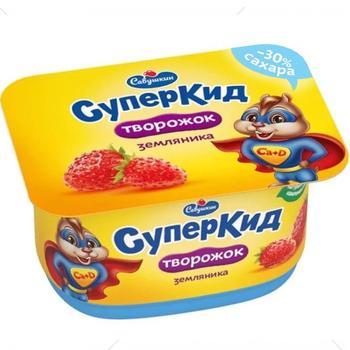 Паста сиркова Савушкин СуперКид Суниця для дітей 3,5% 110г - купити, ціни на CітіМаркет - фото 1