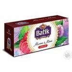 Чай черный Batik малина і м'ята 20шт 1.5г