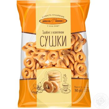 Cracknel Kyivkhlib rich with vanilla 400g Ukraine - buy, prices for Furshet - image 3