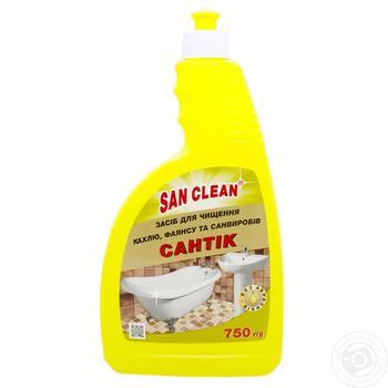 Средство для мытья San Clean Сантик с дозатором 750г - купить, цены на Ашан - фото 1