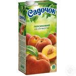Сок Садочок персиковый с мякотью стерилизованный 1л
