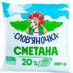Сметана Слов'яночка 20% 380г - купити, ціни на CітіМаркет - фото 1