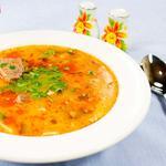 Суп с кроликом и рисом