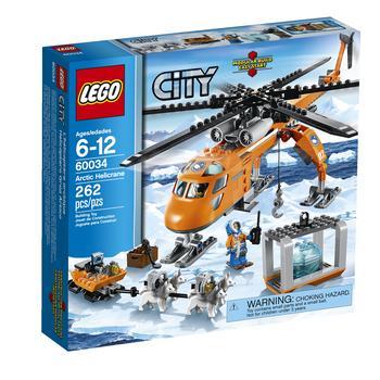 Конструктор Лего Сити спейс порт Арктический вертолет для детей от 6 до 12 лет 262 детали