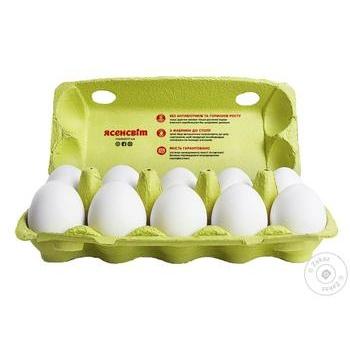 Яйца куриные Ясенсвіт Настоящие Великаны С0 10шт - купить, цены на МегаМаркет - фото 2