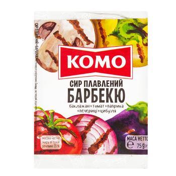 Сир Комо плавлений Барбекю 55% 75г - купити, ціни на Novus - фото 1