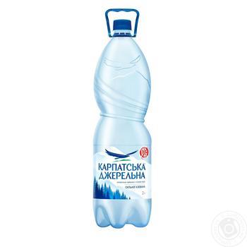 Вода минеральная Карпатская Джеральна сильногазированная 2л - купить, цены на Метро - фото 1
