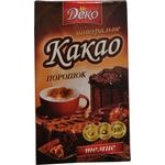 Какао порошок натуральне темне Деко 80г