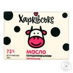 Масло Харківське Селянське 73% 200г - купити, ціни на Восторг - фото 1
