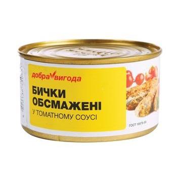 Рыба бычки Добра вигода №5 консервированная 240г железная банка Украина