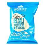 Чіпси Mackie's хвилясті зі смаком морської солі та сидрового оцту 150г