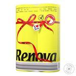 Папір туалетний Ренова Ред Лейбл 6шт жовтий