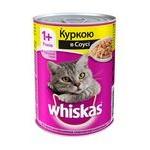 Корм для котів Whiskas з куркою в соусі 400г
